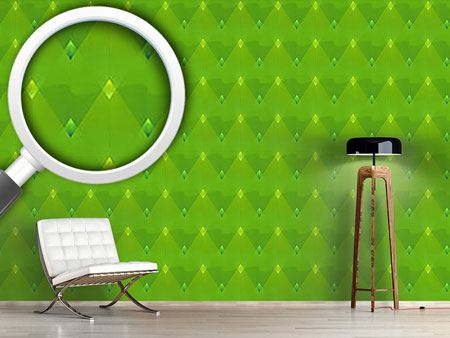Papier peint design Little Green Lanterns