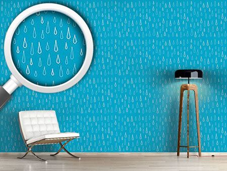 Design Wallpaper Blue Drops
