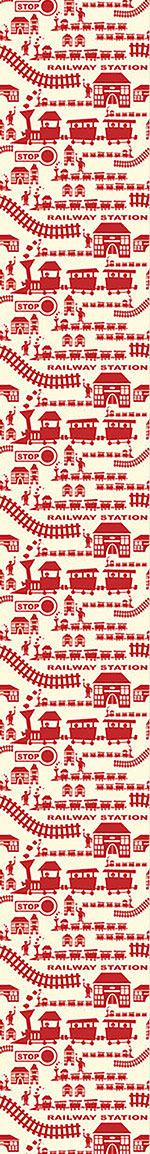 Designtapete Railway Station Red