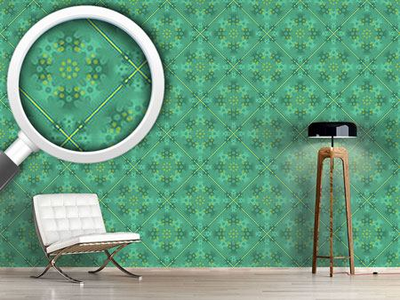 Papier peint design Green Patina