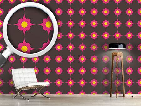 Design Wallpaper Flowerdots Pink