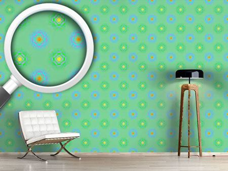 Design Wallpaper Spherical Flowery