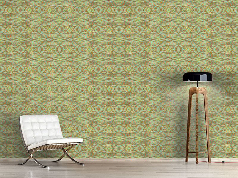 Design Wallpaper Ethno Z Green