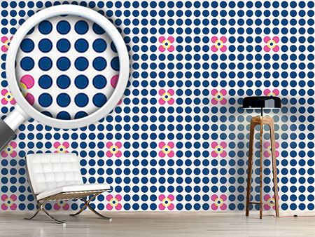 Design Wallpaper Floral Dots