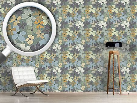 Design Wallpaper Yellow Purple Potpourri