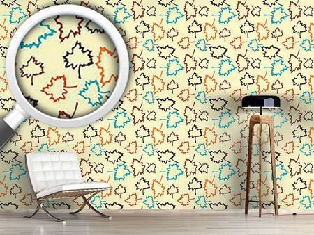 Papier peint design Naturo Yellow