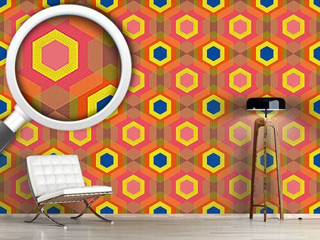 Design Wallpaper Colorful Hexagons