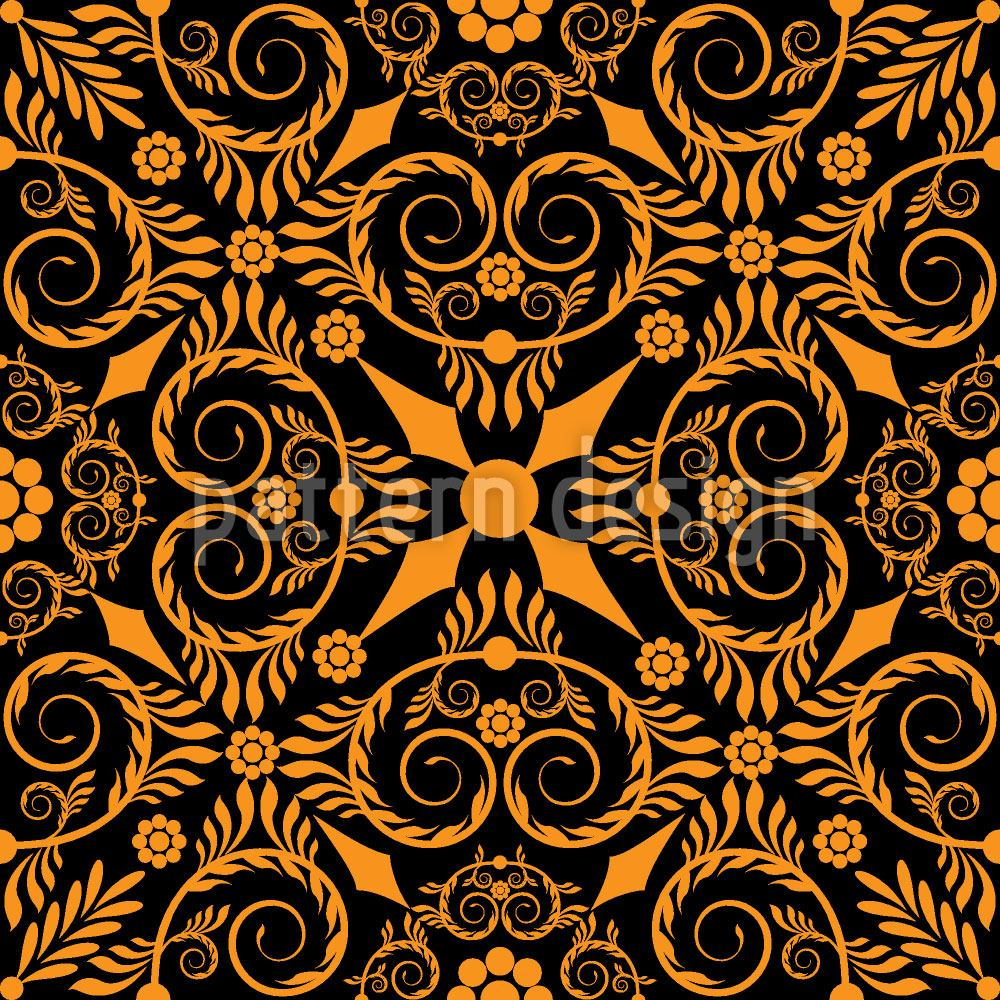 Papier peint design Opulenta Orange