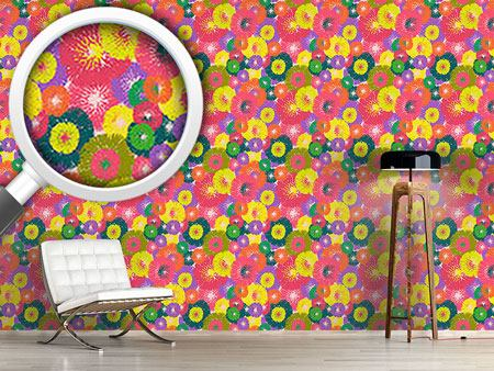 Design Wallpaper Thistle Pop