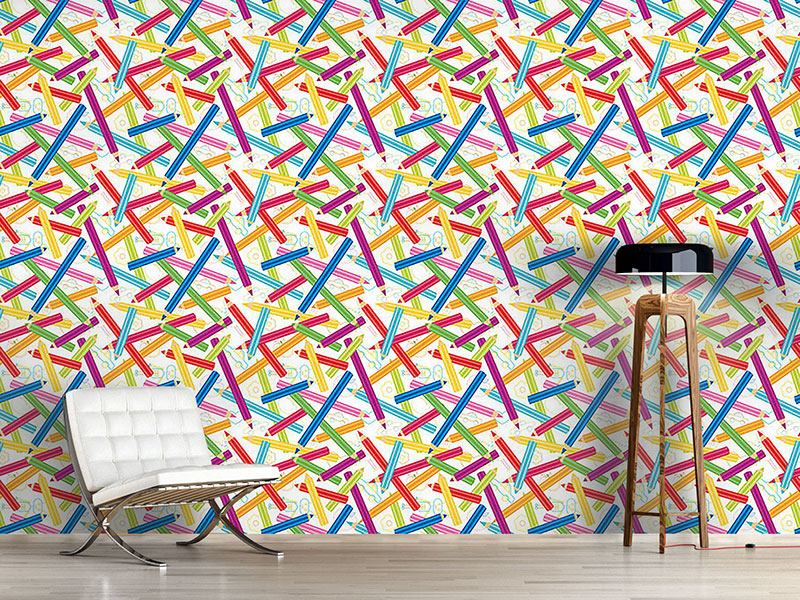 Design Wallpaper Colored Pencils