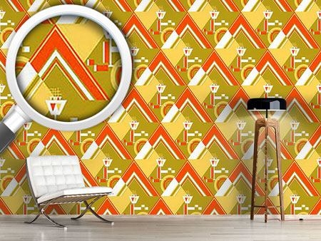 Design Wallpaper Deco Triangles Gold