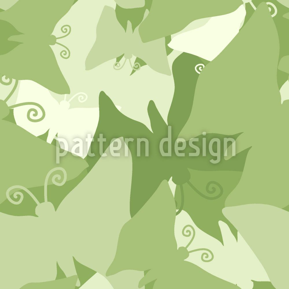 Design Wallpaper The Journey Of The Green Butterflies