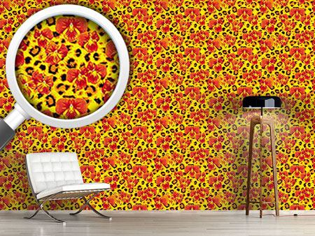 Design Wallpaper My Pansies Wild Cat