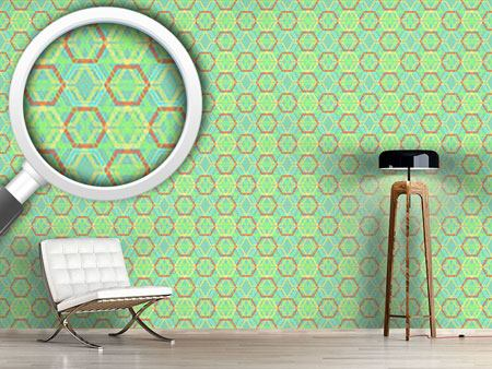 Design Wallpaper Hexagonia Verde