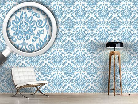 Design Wallpaper Ikat Damask
