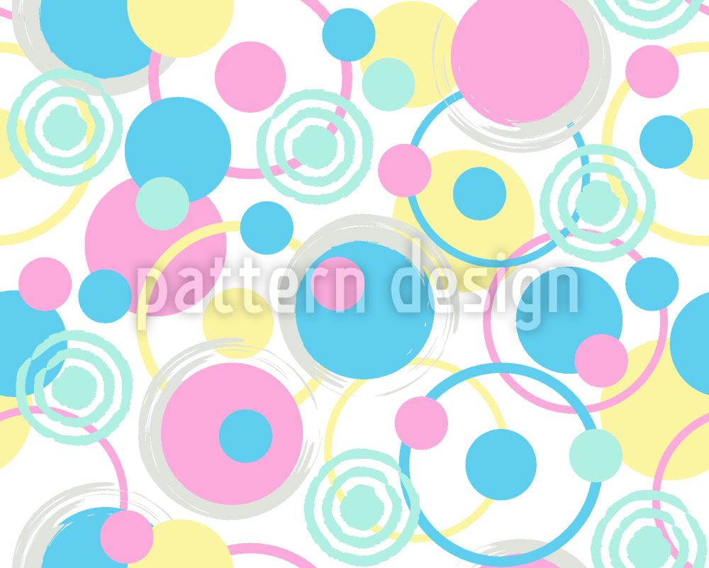 Papier peint design Circle Dreams In Pastel