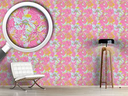 Design Wallpaper Liliana In Pink