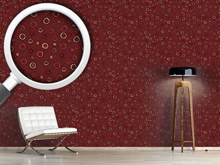 Design Wallpaper Circles In Red