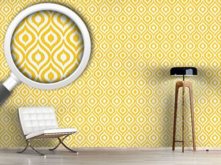 Papier peint design Yellow Ogee Damask