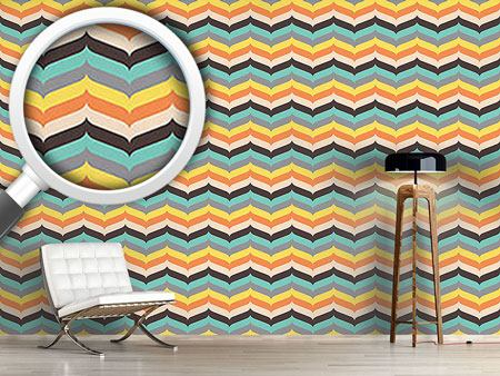 Papier peint design Herringbone Autumn Vibrations