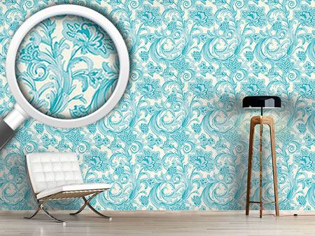 Design Wallpaper Magic Spell Of Crystal Flowers