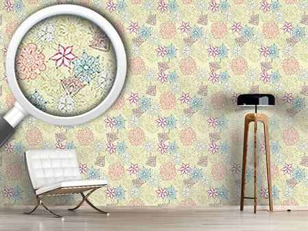 Design Wallpaper Flowers All Over