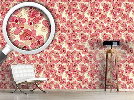 Design Wallpaper Blossom Rain On The Veranda
