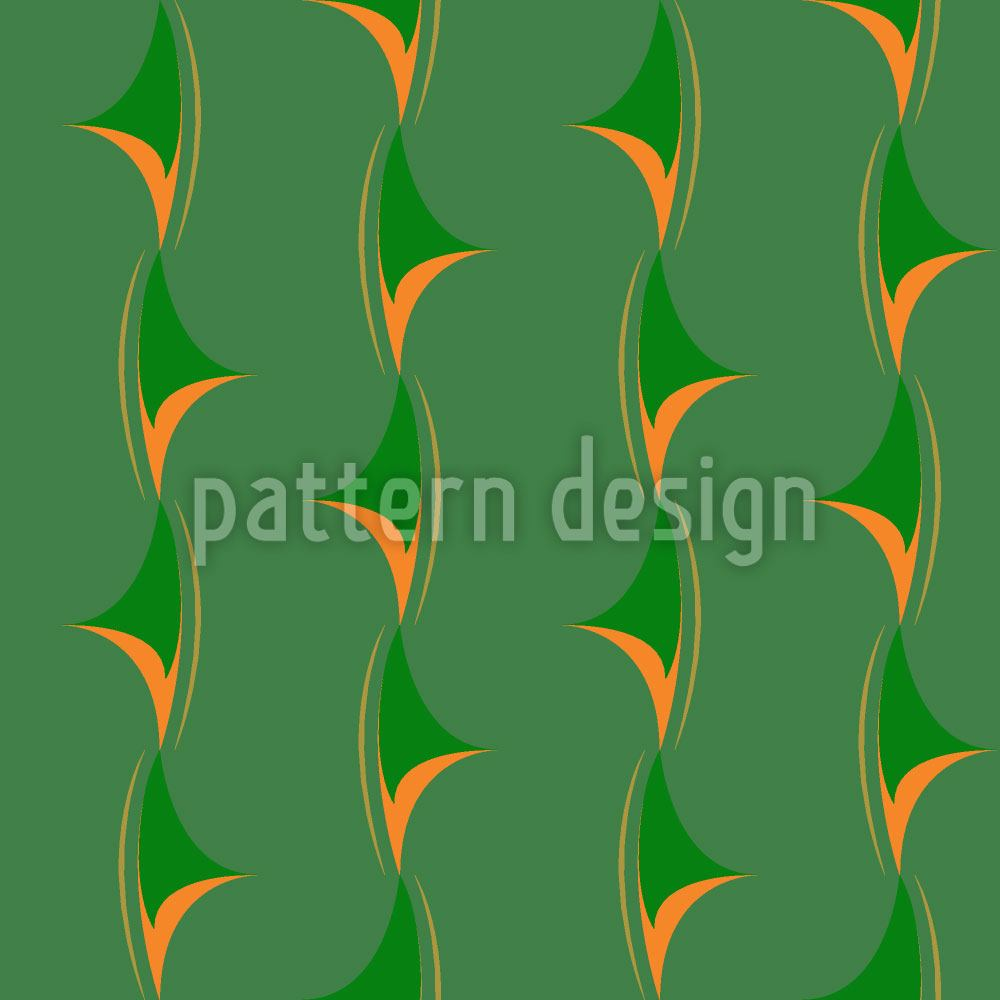 Design Wallpaper Thorny Green