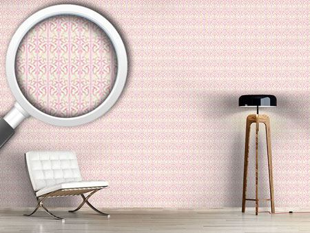 Design Wallpaper Strawberry On Striped Baroque