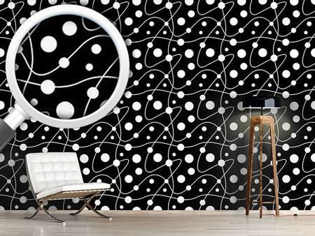 Design Wallpaper Circular Rounds Black And White