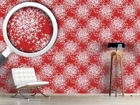 Design Wallpaper Stars Sparkle On Red