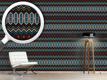 Design Wallpaper Knitted Ethno