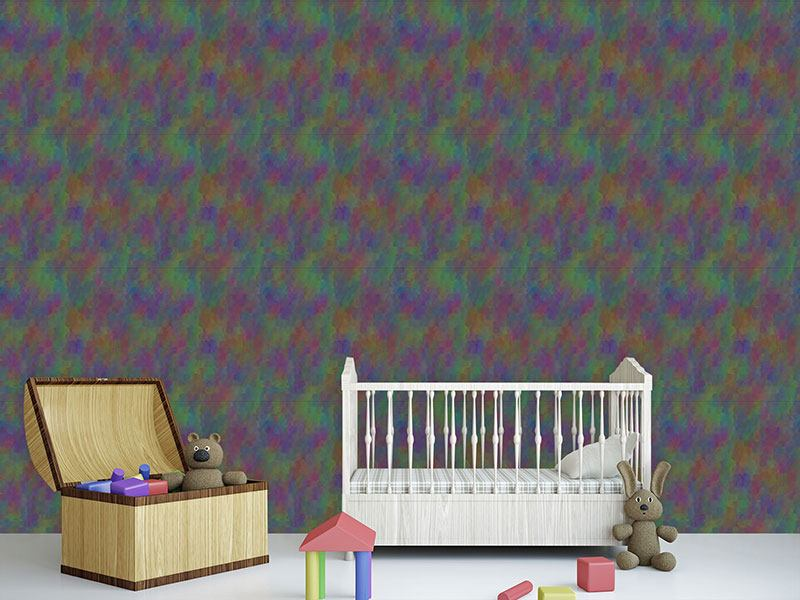 Design Wallpaper Undines Colorful Scaly Dress