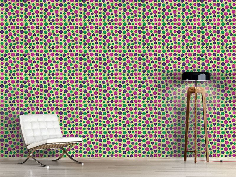Design Wallpaper Happy Confettis On Yellow