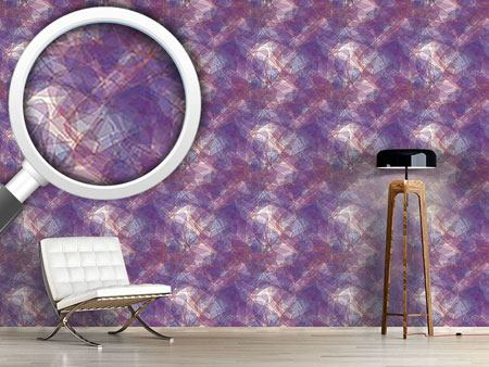 Design Wallpaper Golden Chain On Violet Silk