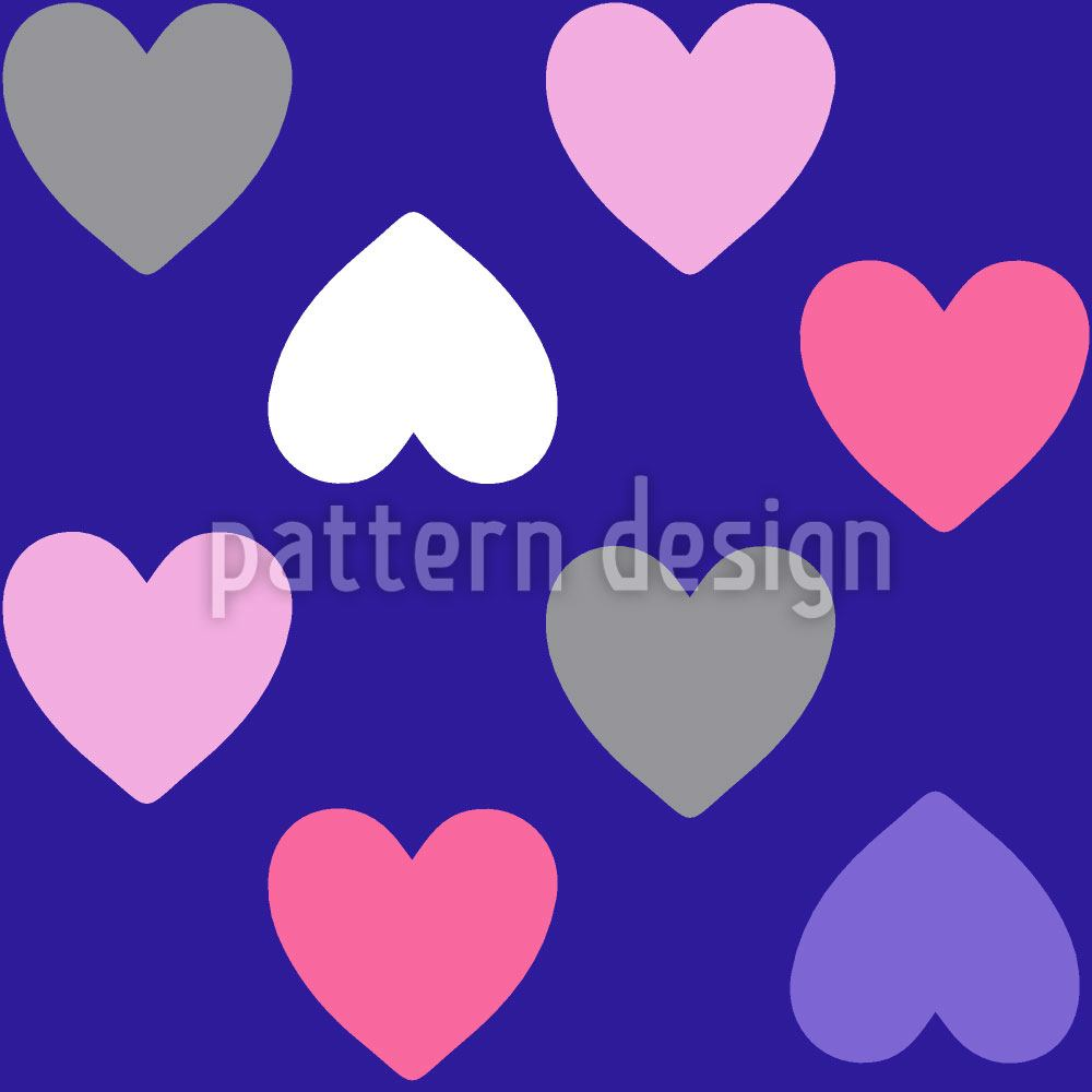 Design Wallpaper Purple Heart