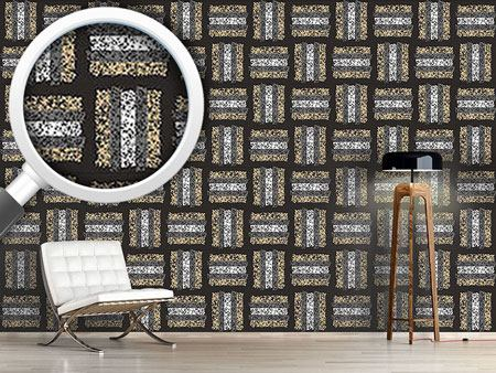 Design Wallpaper Weaving With Stripes