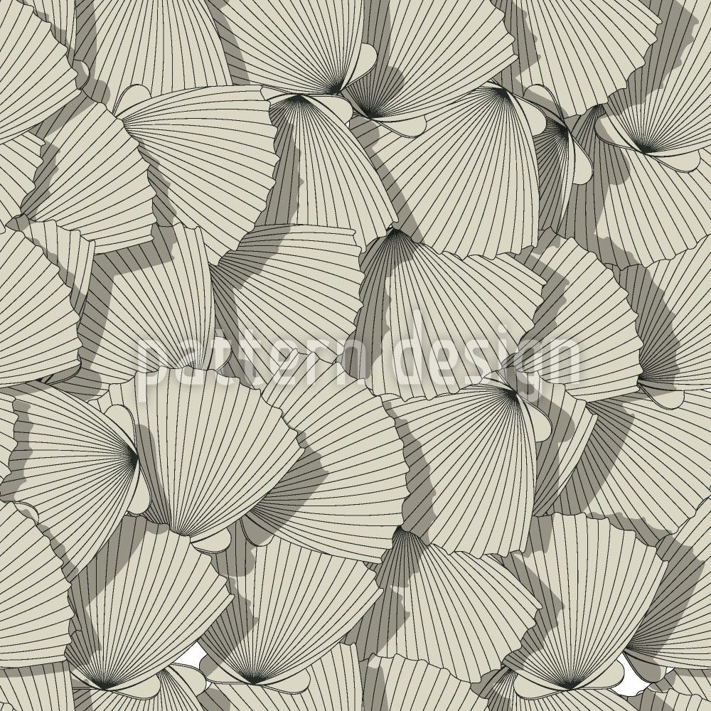 Design Wallpaper Sea Shell Fan