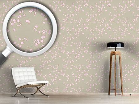 Design Wallpaper Cherry Blossoms On Sand