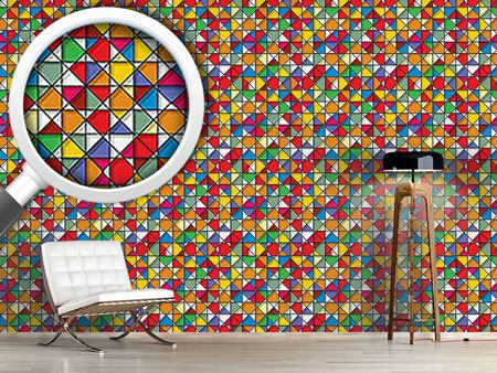 Design Wallpaper Stained Glass