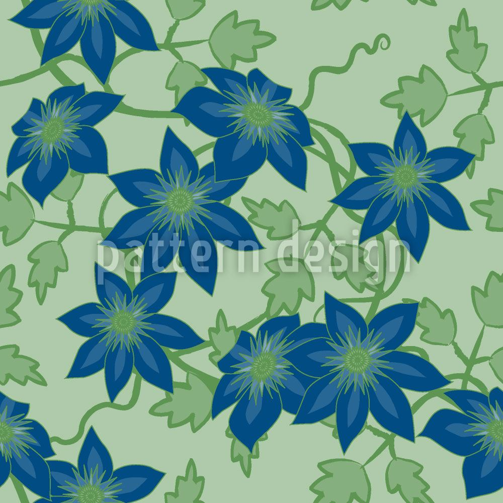 Papel tapiz de diseño Clematis Dream Garden At Day