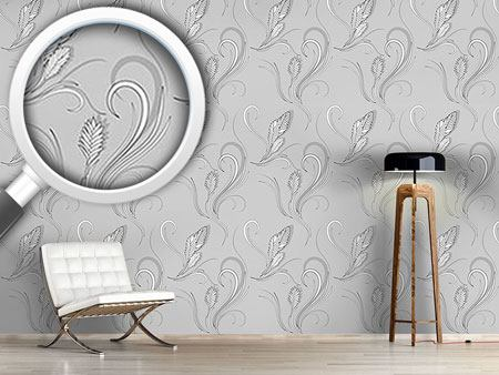 Design Wallpaper Bromelia Monochrome