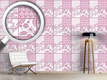 Papier peint design Painted Art Pink