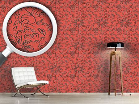 Design Wallpaper Flores A La Tiza