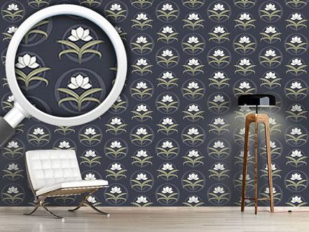 Design Wallpaper Tender Lilies At Night