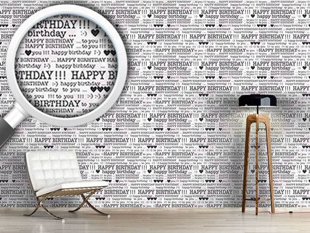 Design Wallpaper Happy Birthday Typewriter