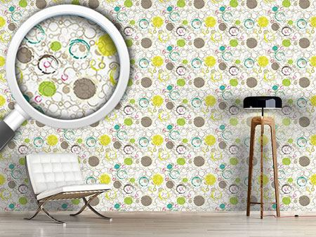 Design Wallpaper Spring Draw Circles