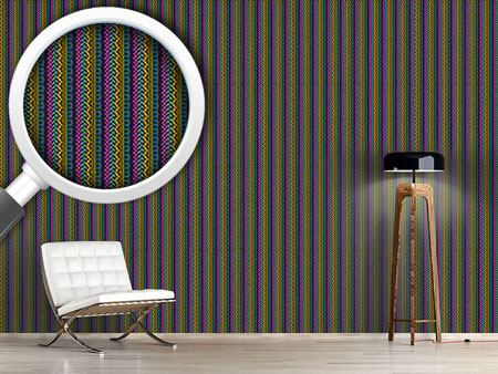 Design Wallpaper Intricate Ethno Stripes