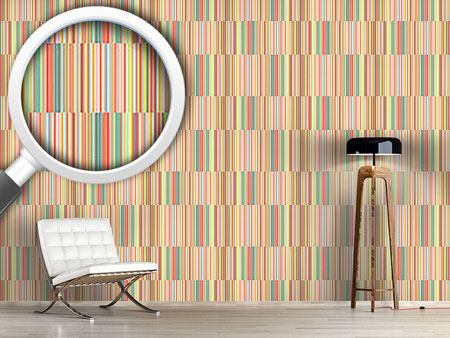 Design Wallpaper Multicolor Offset Stripes