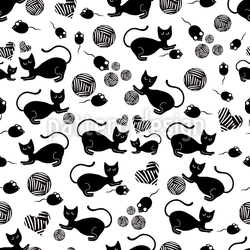 Papier peint design The Black Cat Mousy